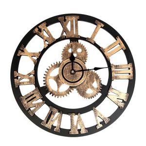 HORLOGE - PENDULE LR Vintage style industriel Horloge murale europée