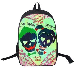 Harley Quinn Suicide Squad Sac à dos isotherme Lunch Box Crayon Sac Sac Lot