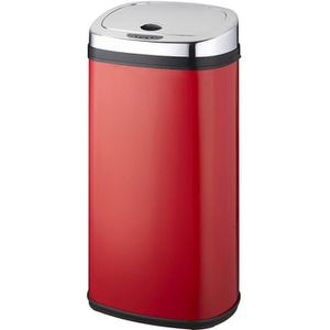POUBELLE - CORBEILLE Kitchen move - poubelle automatique 42l rouge/inox