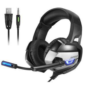 CASQUE AVEC MICROPHONE ONIKUMA K5 Casque Gamer pour PS4 Xbox One Nintendo