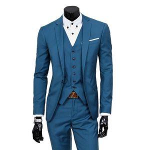 COSTUME - TAILLEUR Costume Cérémonie Homme 3 Pièce Mode Costume Col C