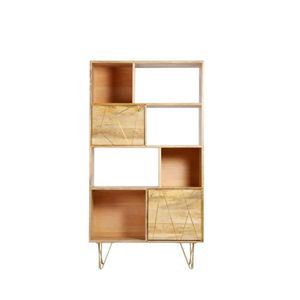 bibliotheque en bois brut achat vente bibliotheque en bois brut pas cher cdiscount. Black Bedroom Furniture Sets. Home Design Ideas