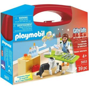 UNIVERS MINIATURE PLAYMOBIL 5653 - City Life - Valisette Vétérinaire