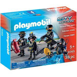 FIGURINE - PERSONNAGE PLAYMOBIL 9365 - City Action - Policiers d'élite -