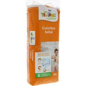 COUCHE LES TILAPINS 34 Culottes Bébé Taille 6 - 16 kg et