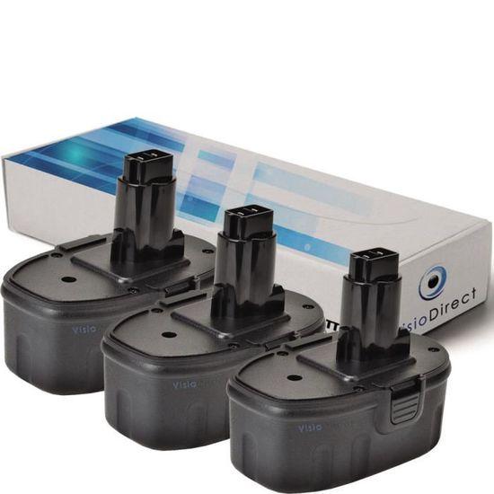 Lot de 3 batteries type DE9096 pour DEWALT 18V 3000mAh