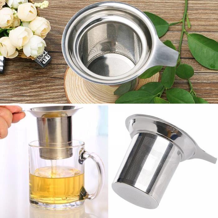 Infuseur à thé en acier inoxydable doré, sphère en maille, filtre à herbes et épices, diffuseur pour théière, [016220E]