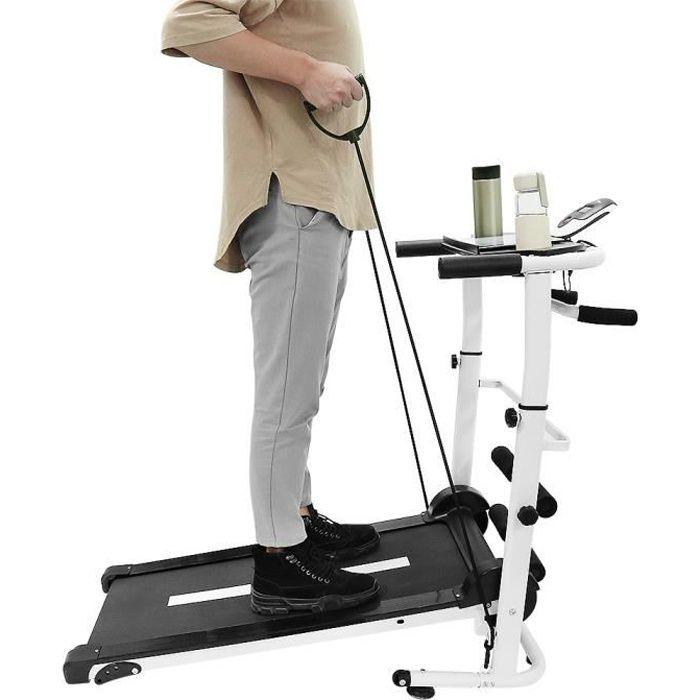 Tapis roulant pliant mécanique domestique Tapis de Course Marche Courir avec écran LED,Charge maximale 100 kg