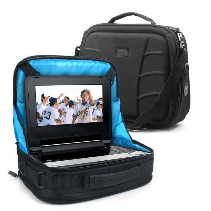 USA Gear Sacoche de Transport avec Poignée, Support Voiture Appuie-Tête pour Lecteur DVD Ordinateur Portable Takara, DBPOWER, Phi