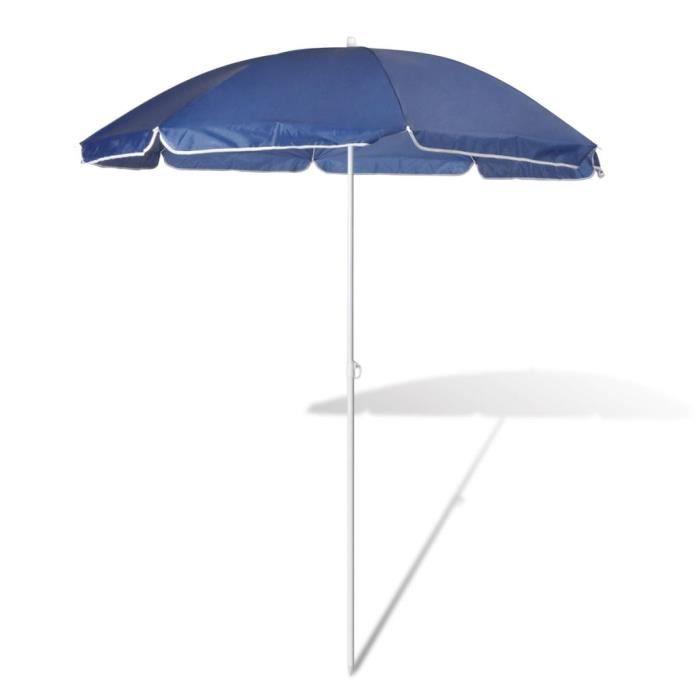 180cm Parasol de plage bleu RAI