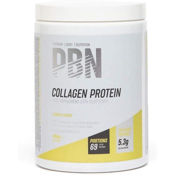 Vitamines, minéraux et compléments PBN Collagen Protein Lemon 454g Jar 772010
