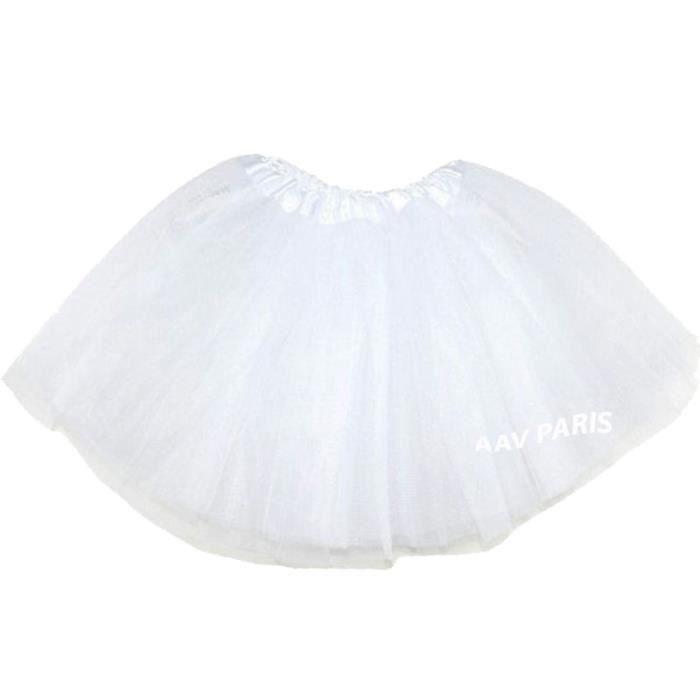 Tutu de Ballet Danse Soirée Jupe Jupon pour filles - taille unique - blanc