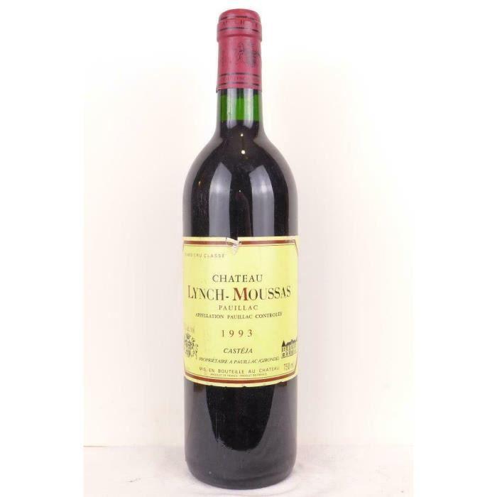 pauillac château lynch-moussas grand cru classé rouge 1993 - bordeaux