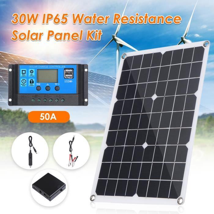 30W panneau solaire double sortie USB cellules solaires Poly panneau solaire 10-20-30-40-50A contrôleur po - 30W solar panel -
