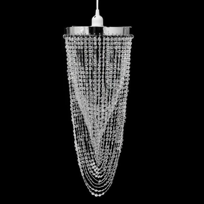 Luxueux Magnifique-Lustre suspendu Crystal Moderne Plafonnier Lumière pour Chambre à Coucher, Couloir, Salon 22 x 58 cm