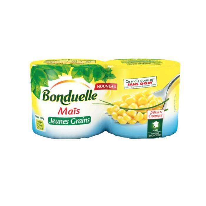 BONDUELLE Maïs Jeune Grain 1/4x2 - 280 g