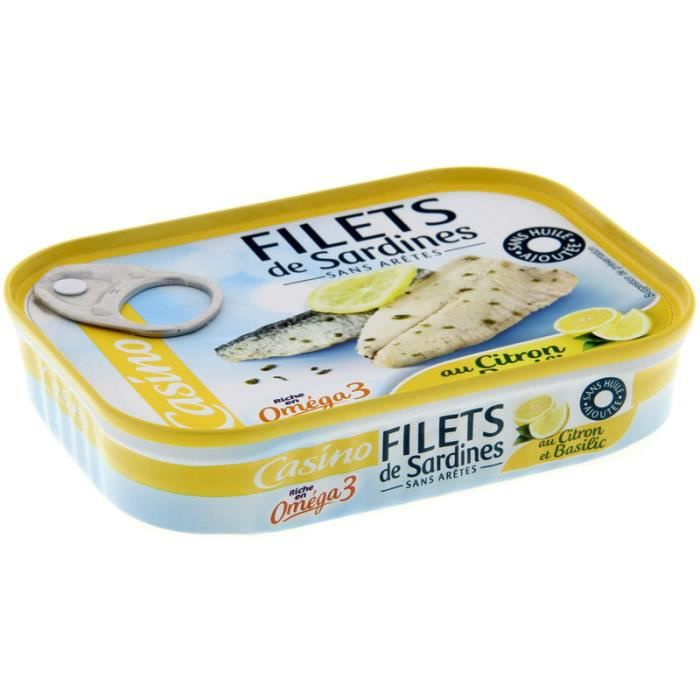 Filet de sardines - Au citron - 115 g