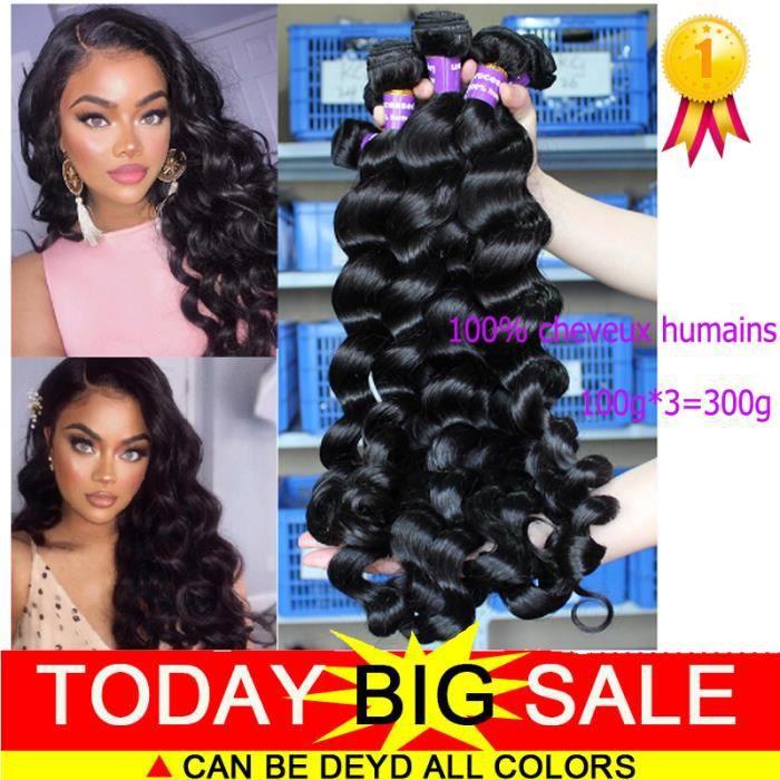 3 tissage cheveux humains Extension cheveux losse wave 22+24+26 pouces 100g-pc meches bresilien de cheveux naturels