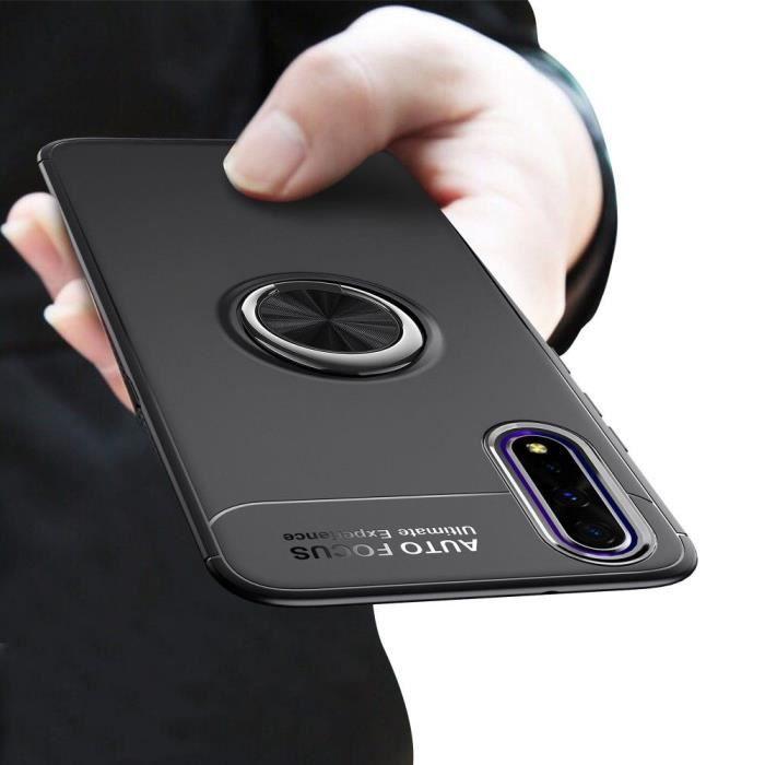 Coque Huawei Honor 9X Finger Noir Magnétique Rotatif hfs-house®