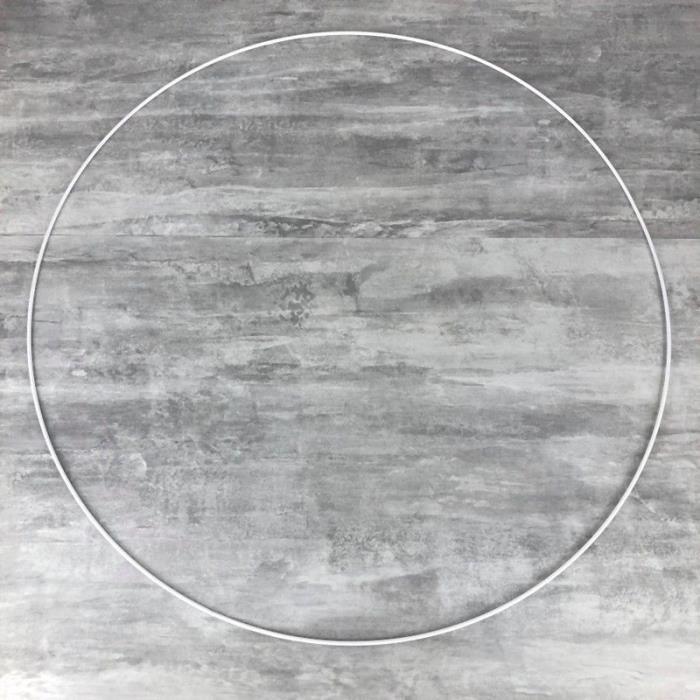 Grand Cercle XXL métallique blanc diam. 80 cm pour abat-jour, Anneau epoxy blanc Attrape rêves - Unique