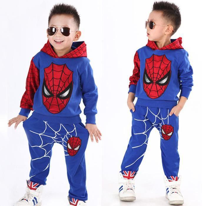 Bébé Garçons Printemps Automne Spiderman Costume De Sport 2 Peças Ensemble Survêtement Enfants Vêtements Ensembles 100 - 140 C