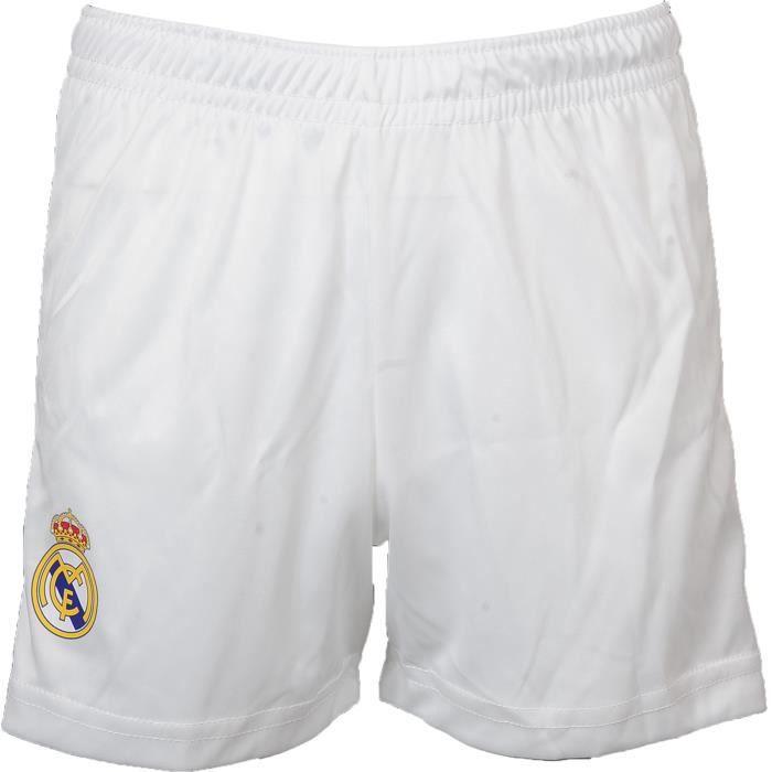 Ensemble Maillot de Foot et short Real Madrid - Domicile - Collection officielle - Enfant - Blanc