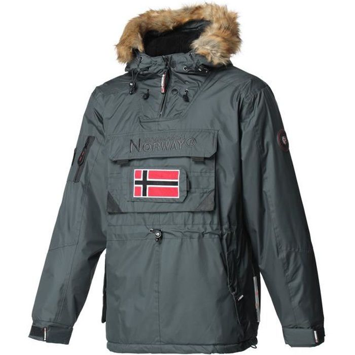 GEOGRAPHICAL NORWAY Parka Barbier New 001 - Homme - Gris foncé