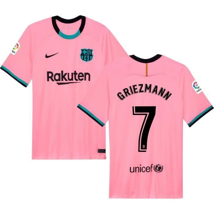 Nouveau Maillot de Foot Antoine Griezmann Barcelones 2020 2021 Barcelonas Barcas Pas Cher pour Homme