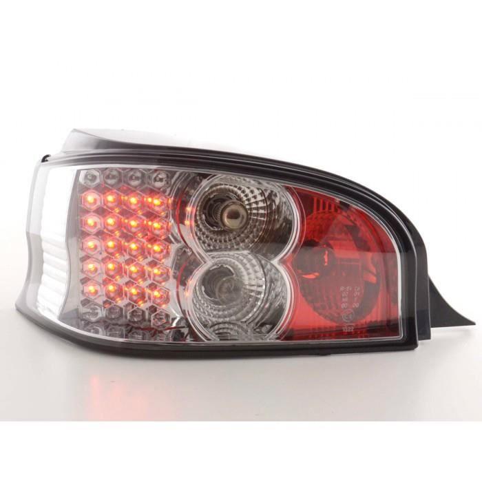 LED Feux arrieres pour Citroen Saxo (type S/S HFX / S KFW) An 96-02, chrome