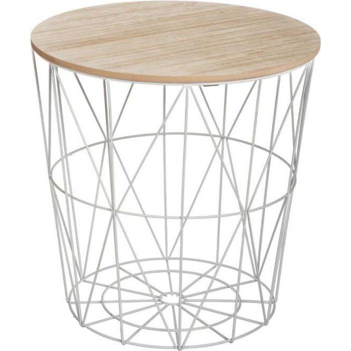 Table d'Appoint Design -Kumi- 41cm Gris