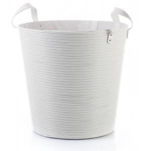 Panier à Linge Plastique Blanc 40cm