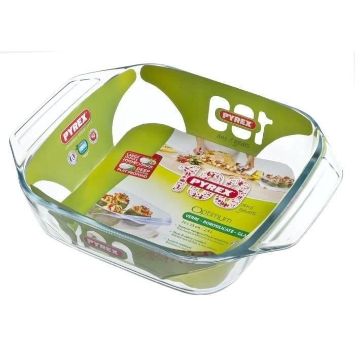 PYREX Plat à four carré 29x23 cm transparent