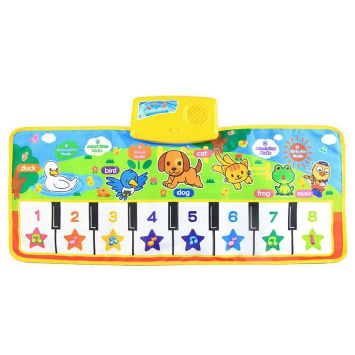 Piano Music Clavier Mat Couverture tactile Play En savoir cadeau Singing Tapis musicale Musique Chanter Gym Tapis Tapis enfants