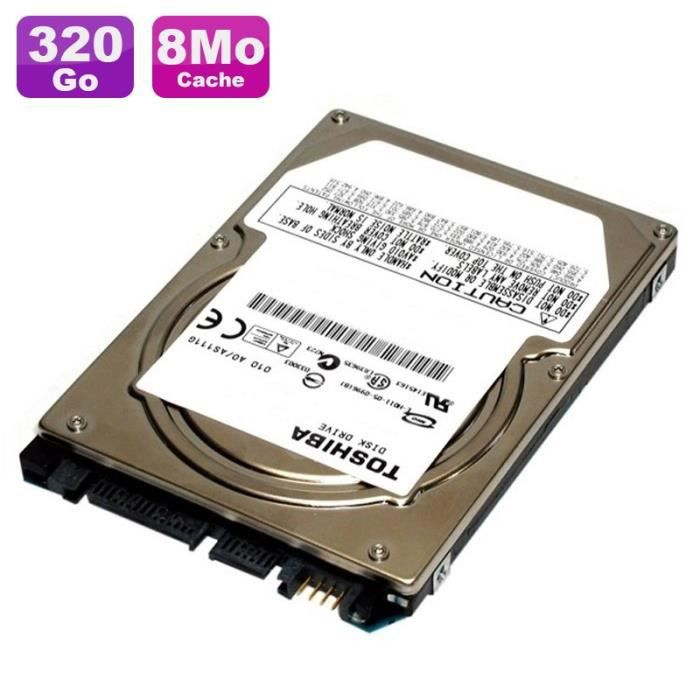 Disque Dur 320Go SATA 2.5- Toshiba MQ01ABD032 5400RPM Pc Portable 8Mo