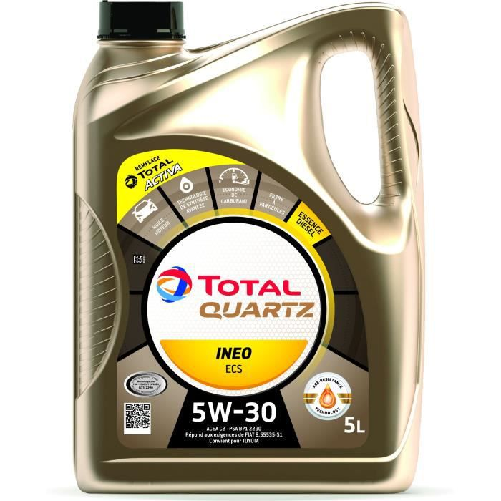 Huile Total Synthese 5w30 Quartz Ineo ECS 5 Litres