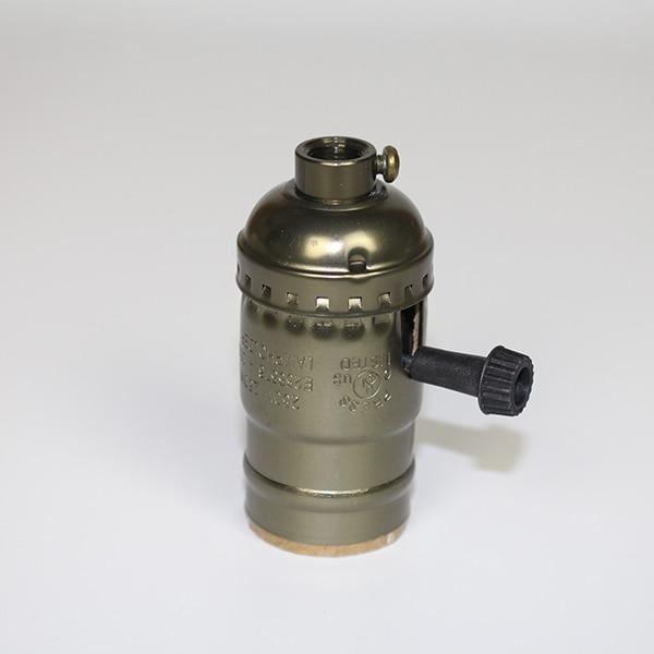 Copper with bar -Vis de support de la base de la lampe,vintage,rétro antique,coque en aluminium,douille d'ampoule,3 couleurs av
