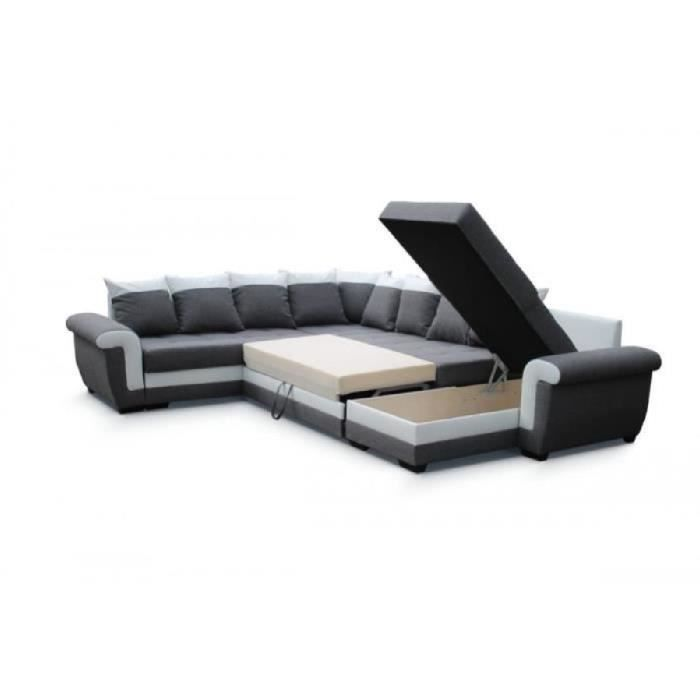 canape latte 2 angles convertible lit reversible achat. Black Bedroom Furniture Sets. Home Design Ideas