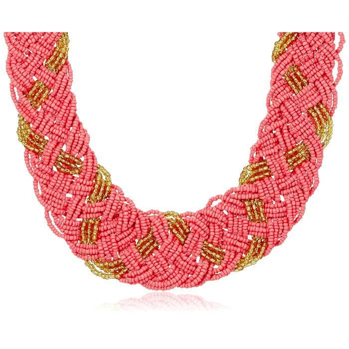 Womens Multi-strand Necklace For (vermillion,gold) (kbi - 026) WAAG2