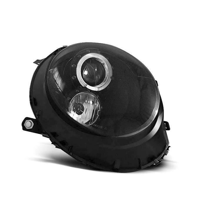 Paire de feux phares Mini Cooper 01-06 angel eyes noir