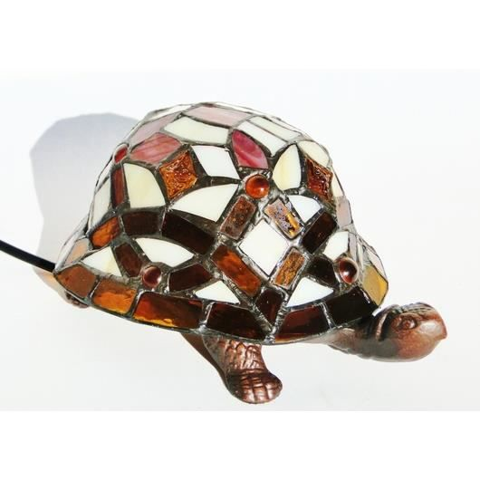 Lampe tortue style tiffany verres cristal mosaique color s - Lampe chauffante tortue ...