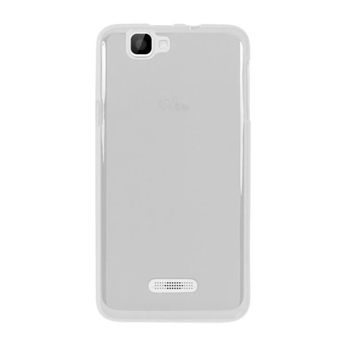 Coque Wiko Rainbow 4G silicone transparente
