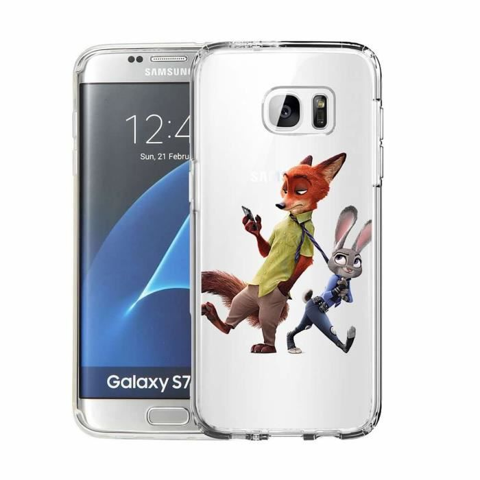 coque galaxy s7 edge lapin