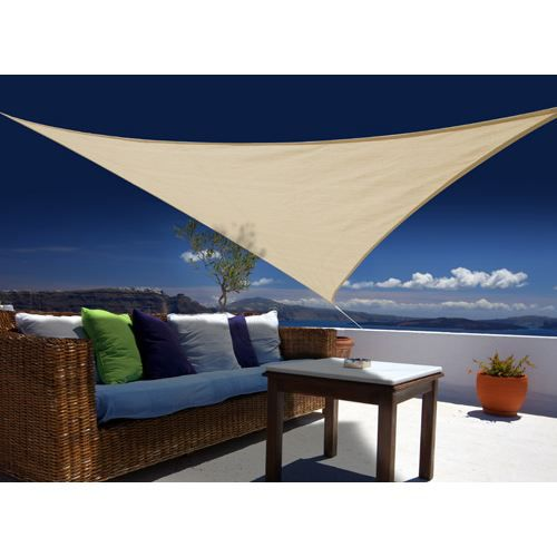 voile d 39 ombrage triangulaire 3 60 m austral sable achat. Black Bedroom Furniture Sets. Home Design Ideas
