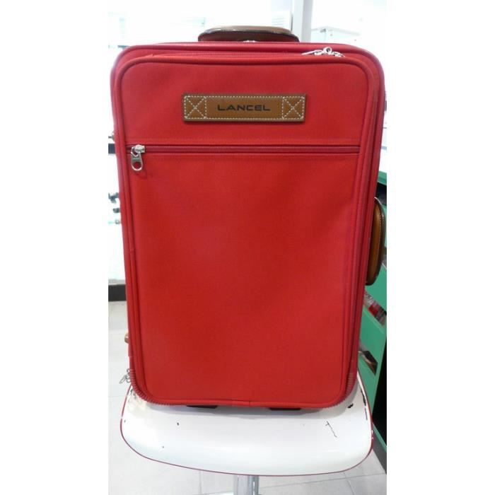 valise cabine trolley roulettes rouge lancel rouge achat vente valise bagage 2009937301653. Black Bedroom Furniture Sets. Home Design Ideas