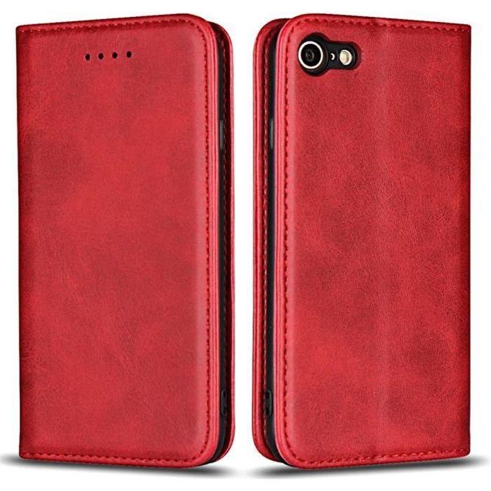 iphone 7 coque portefeuille en cuir veritable etui