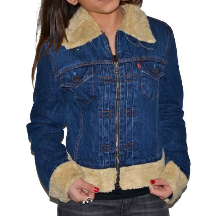 Veste en jeans levis Fourré ston… Bleu bleu