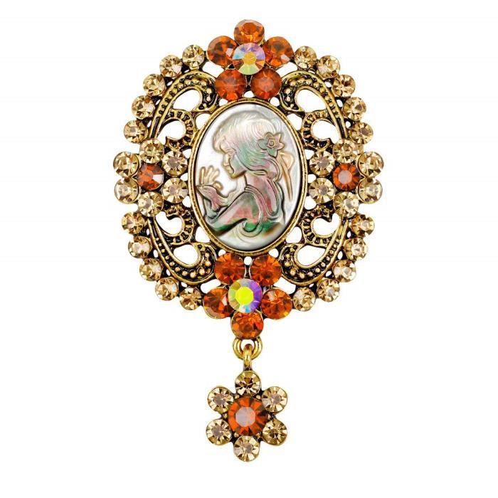 Chat avec broche en diamants broche en diamants Femme fille V/êtements accessoires D/écorations /él/égantes et d/élicates