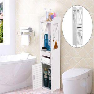 COLONNE - ARMOIRE WC étagère de toilette en bois meuble WC rack de stok