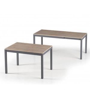 TABLE À MANGER SEULE Table de repas extensible ALUNGO 120 x 80 cm chêne