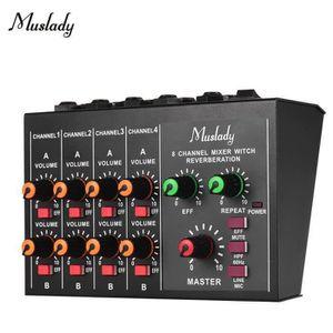 TABLE DE MIXAGE QQ Mixeur Audio Avec Câble Adaptateur, 8 Canaux Co